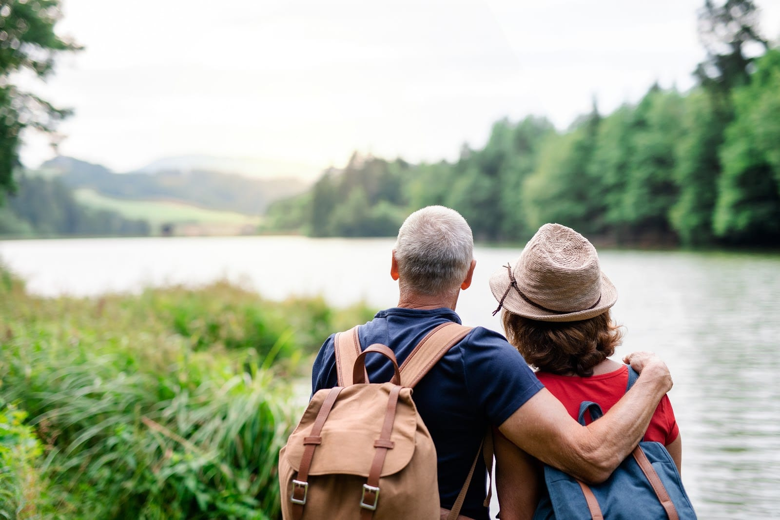 Senior Couple enjoying a beautiful view